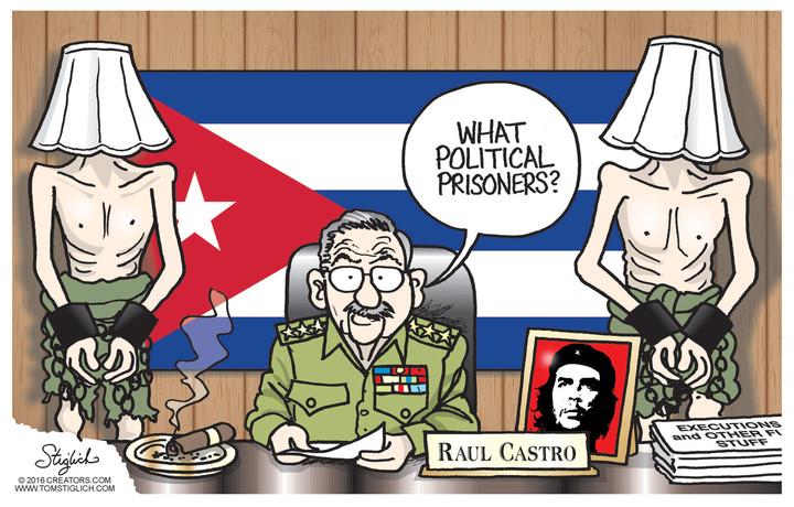 Image result for cuba political prisoners cartoons