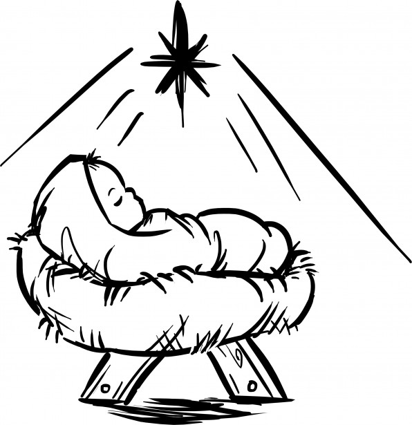 Was jesus adopted interview paul batura conservative for Baby jesus manger coloring page